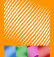 set of colorful backgrounds with white stripes vector image vector image