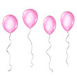 set pink watercolor balloons isolated on white vector image vector image