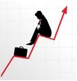 sitting businessman vector image