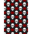 skull and roses seamless pattern on black vector image vector image