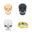 skull icon set flat style vector image