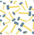 sledge hammer seamless pattern vector image vector image