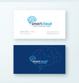 smart cloud abstract logo and business card vector image vector image