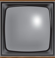 square screen retro tv vector image