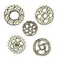 steel gears steampunk vector image vector image