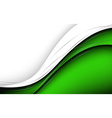 Stylish abstract green background vector image