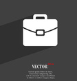 suitcase symbol Flat modern web design with long vector image vector image