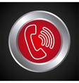 telephone service button isolated icon vector image