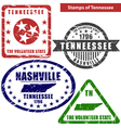 Tennessee in stamps vector image vector image