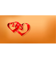 valentines day postcard with two hearts vector image