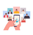 video conference concept online meeting work vector image