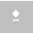 warning sign computer symbol vector image vector image