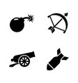 weapons of war simple related icons vector image vector image