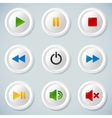 White plastic navigation buttons vector image vector image