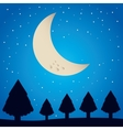 winter pineforest landscape icon vector image