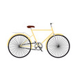 yellow retro bicycle concept flat design vector image vector image