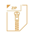 ZIP file icon cartoon style vector image vector image