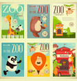 zoo park posters vector image vector image