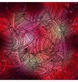 red boho pattern vector image