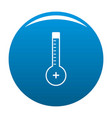 thermometer warmly icon blue vector image