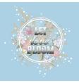 Let love Bloom floral card Happy Valentine day vector image