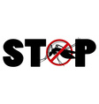 Stop sign for mosquito vector image