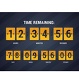 Time remaining vector image
