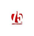 75 years anniversary logo template