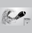 abstract silhouette of a american football ball vector image vector image
