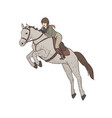 beautiful woman wearing breeches jacket and vector image vector image