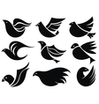 Bird labels vector image vector image