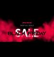 black friday sale concept on dark background vector image