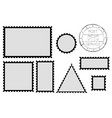 blank post stamp shape - rectangle triangle vector image vector image