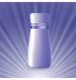 blue cosmetic tube vector image
