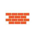 brick wall icon design template isolated vector image vector image