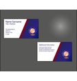 Business card layout vector image