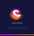 c-monogram-logo vector image vector image