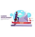 career development infographics ladder to success vector image