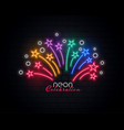 celebration sparkles in colorful neon style design vector image vector image