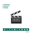 clapperboard symbol icon vector image