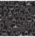 Coffee seamless background pattern vector image vector image