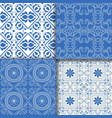 collectiom seamless pattern arabic style in blue vector image vector image