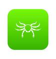 crab sea animal icon digital green vector image vector image