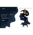 creative mind website landing page design vector image