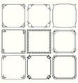 decorative frames set 45 vector image vector image