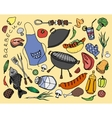Doodle barbecue vector image vector image