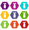 dress icons set 9 vector image vector image