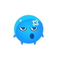 Embarrassed Round Character Emoji vector image vector image