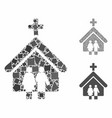 family church composition icon tremulant parts vector image vector image