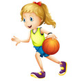 female basketball player character vector image vector image